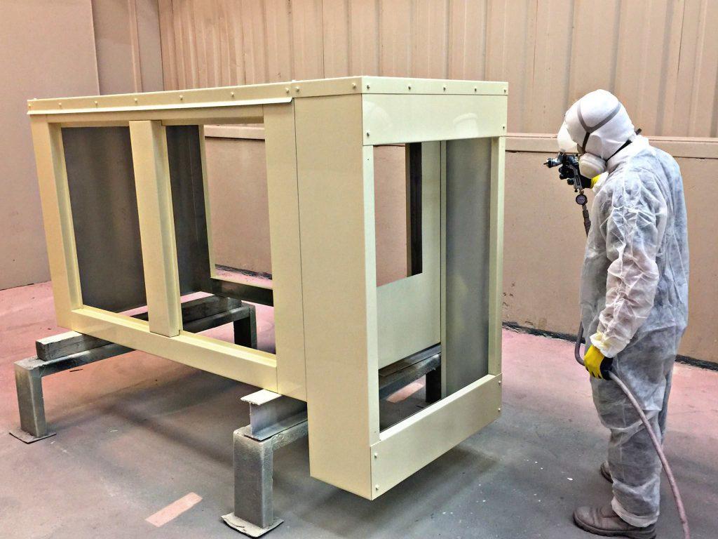 Pintura de cabinas para generadores eléctricos
